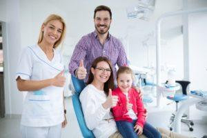 Family visiting their Flint family dentist
